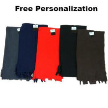Personalized Winter Fleece Scarves - 5 Colors