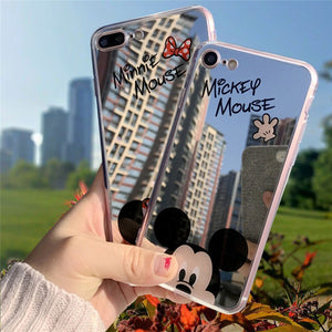 Cartoon Minnie Mouse Silicone Case for iPhone 6s plus Case TPU Mickey Mirror Cover for iPhone X Xr Xs Max 7 8 Plus 5 5s SE Cases