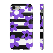 Black, White, and Purple Flower Phone Case