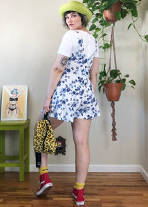Vintage Floral Layered-Look Romper - M/L/XL