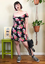 Vintage Floral Babydoll Mini Dress - L/XL