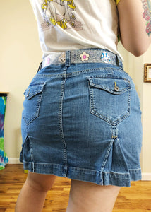 Vintage Denim Skort with Kick Flare Back - XL/2X