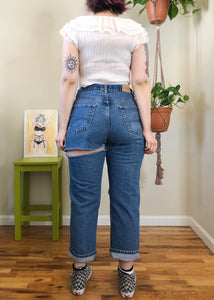 Vintage Destroyed Medium Wash Jeans - XL