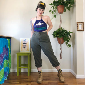Vintage Olive Green Mom Jeans - 2X/3X