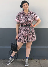 Lazy Oaf Pink Leopard Shirt Dress - XL
