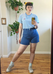 Vintage Periwinkle Denim Shorts - L/XL