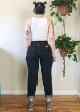 Vintage Gitano Black Jeans with Contrast Stitch - 2X