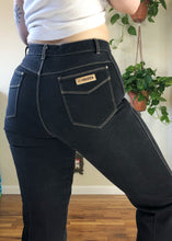Vintage Gitano Black Jeans with Contrast Stitch - L/XL