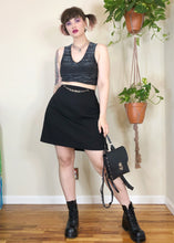 Vintage Detachable Chain Belt Black Skirt - XL/2X