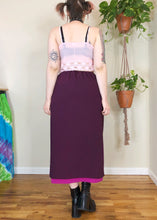 Vintage Mulberry and Magenta Skirt - XL/2X