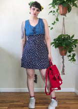Vintage Denim Top Floral Mini Dress - 2X