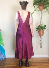 Vintage Boysenberry Silky Maxi Dress - 2X/3X