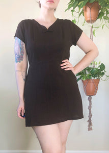 Vintage 40's Bow Mini Dress - L/XL