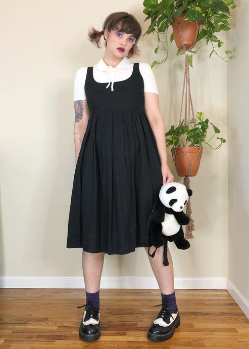 Black Jumper Dress - L/XL