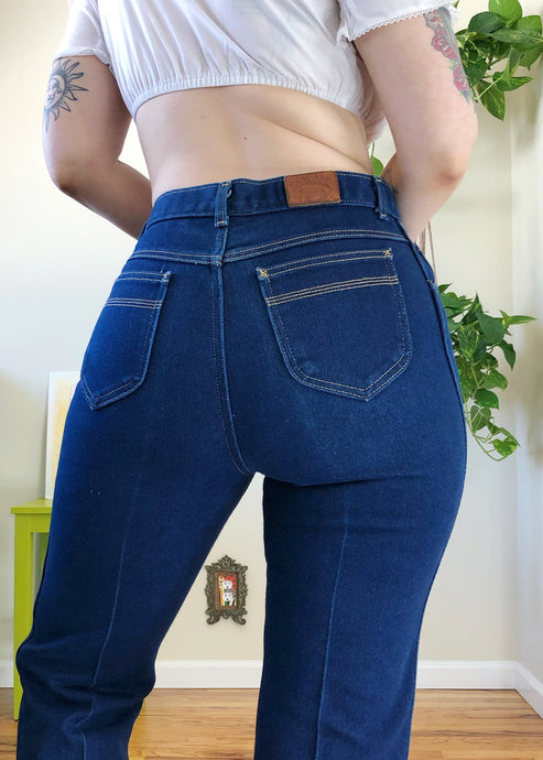 Vintage Cascade Blues Jeans with Contrast Stitch - L/XL