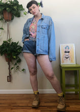 Vintage Light Wash Denim Jacket - XL/2X/3X