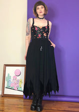 Vintage Witchy Black Maxi Skirt - L/XL/2X