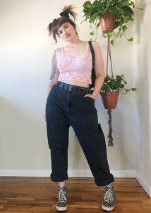 Vintage Faded & Destroyed Black Jeans - 3X/4X
