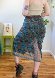Vintage Mesh Layered Skirt - M/L/XL/2X