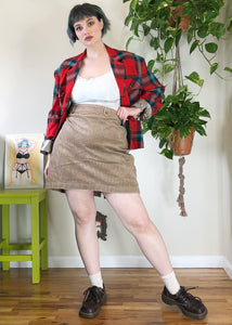 Vintage Ultra Wide Whale Corduroy Skirt - XL/2X