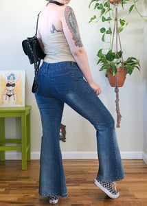 Vintage Denim Mega Slit Flares - XL