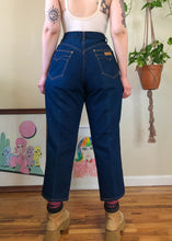 Vintage Gitano Blue Jeans with Contrast Stitch - 2X