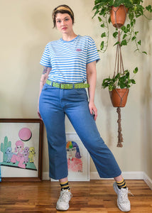 Vintage Light Wash Cropped Wranglers - XL/2X