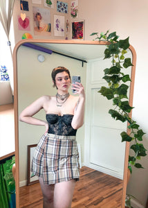 Vintage Khaki Plaid Skort - L/XL