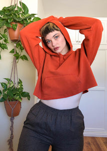 Vintage Orange Altered Hoodie - 2X