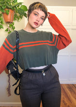 Vintage Levi's Perfect Color Combo Raw Cropped Striped Sweater - 3X