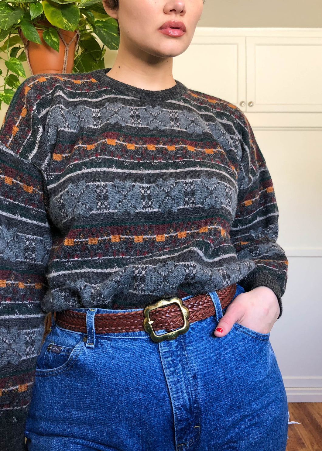 Vintage Harvest Pullover Sweater - XL