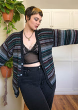 Vintage Striped Knit Cardigan - XL/2X/3X