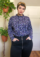 Vintage Floral Printed 100% Cotton Nostalgia Turtleneck - 3X/4X