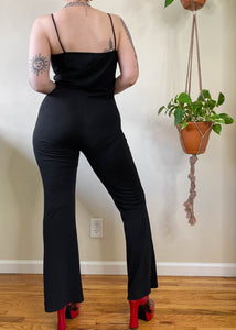 Vintage Square Neck Jumpsuit - L/XL/2X