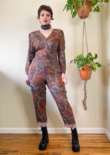 Vintage 80's Leopard and Paisley Jumpsuit - L/XL
