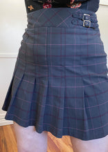 Vintage Pink & Gray Pleated Plaid Skirt - 2X