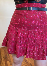 Vintage Floral Tiered Ruffle Skirt - XL