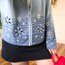 Vintage Snowflake Zip Up Cardigan - 2X
