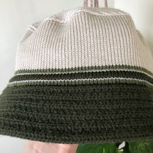 Vintage Striped Knit Hat