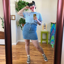 Vintage Denim Mini Skirt - L