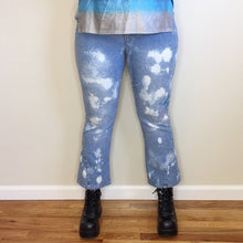 Vintage Butterfly, Sugar, Baby Bleach Splattered Flares - L/XL