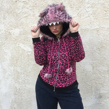 Vintage Reversible Leopard Zip Up - L/XL