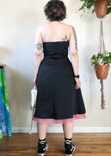 Vintage Pink and Black Party Dress - L