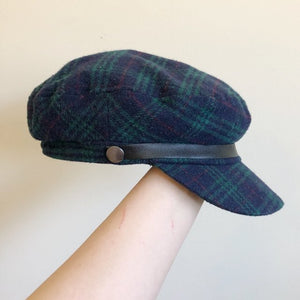 Plaid Pageboy Cap