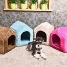 Luxury Indoor Foldable Dog House Cozy Soft Kennel Bed Pleasures Of Life