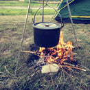 Outdoor Camping Picnic Cooking Tripod Hanging Pot For Campfire Cooking Pleasures Of Life