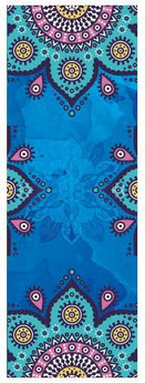 Yoga Mat Towel Microfiber Non Slip Ultra Absorbent Towel - Bikram Yoga bikram yoga Pleasures Of Life Blue
