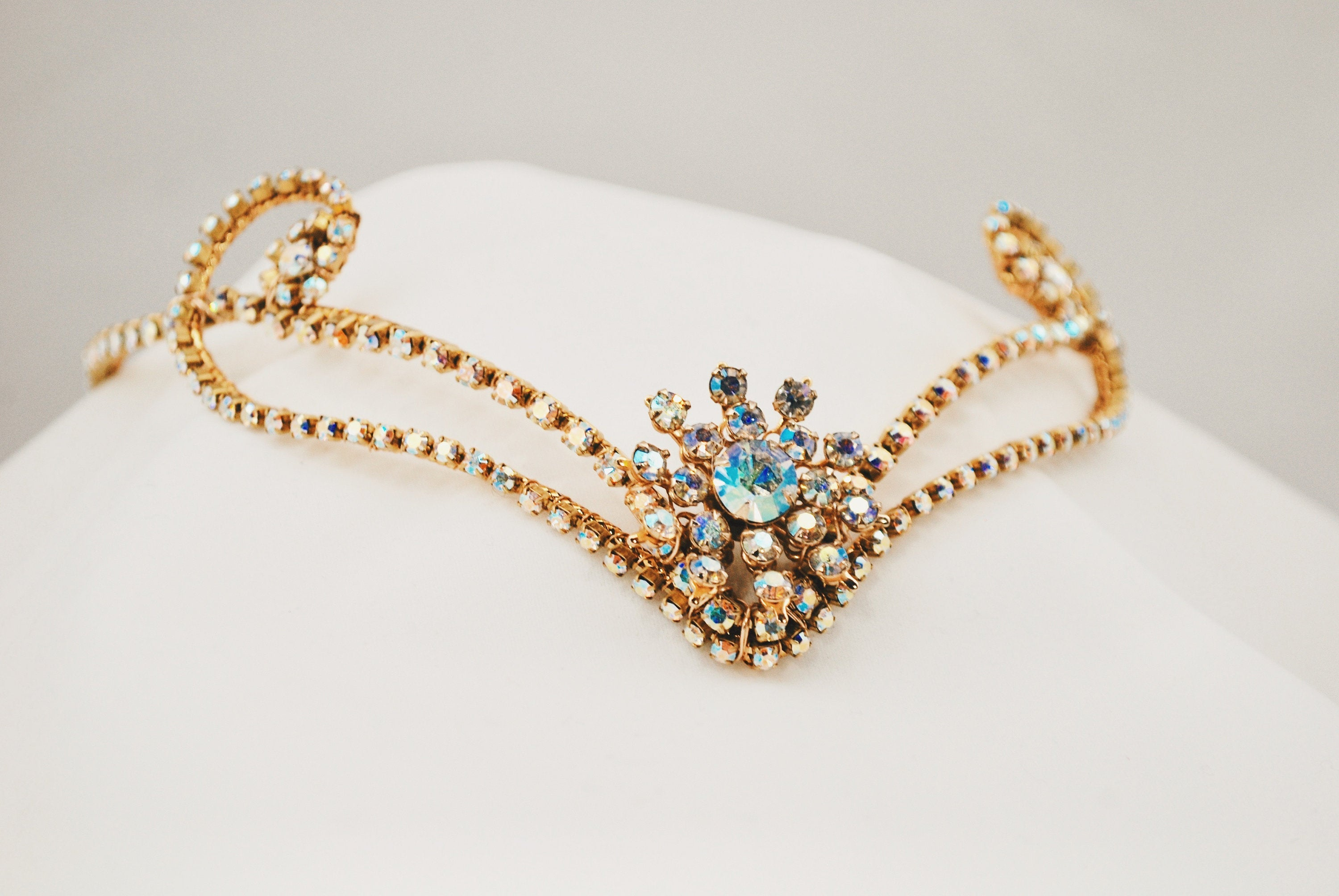 Golden Diadem with Vintage Jewel