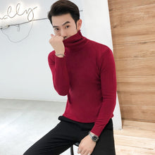 2019 Winter New Men's Turtleneck Sweaters Black Sexyr Casual Male Sweater