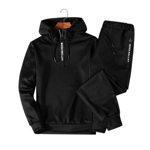 Sets Tracksuit Men Autumn Winter Hooded Sweatshirt Drawstring suit